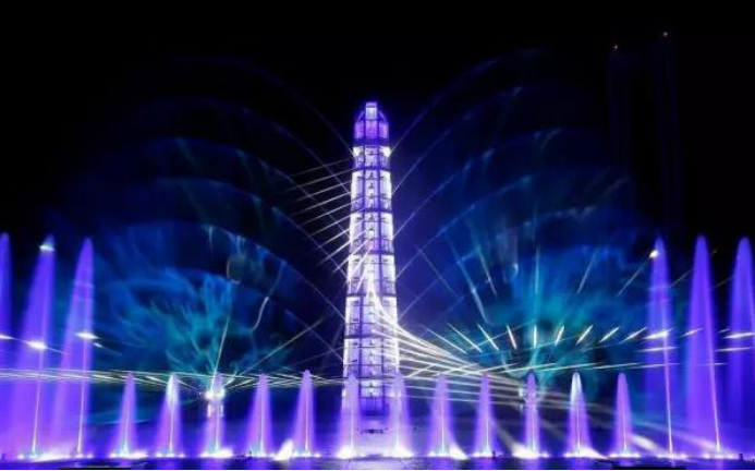 What is the multimedia water show?